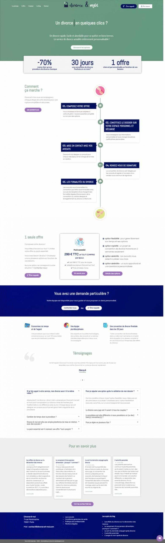 Plateforme divorce en ligne Divorce & moi - site WordPress MD Webdesigner