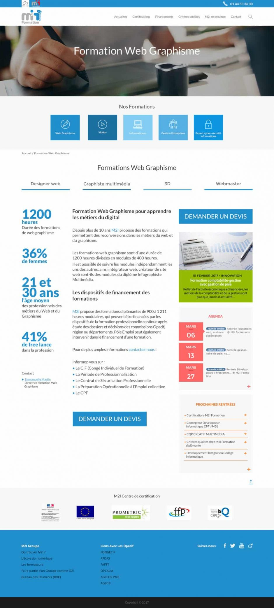 refonte site internet WordPress - MD Webdesigner